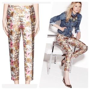 J. Crew Cafe Capri in Antiqued Floral Pant